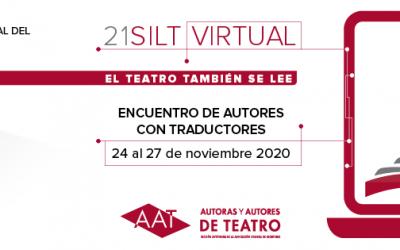 Javier del Barrio no Encontro Virtual de Autores e Tradutores.