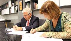 Firma del acuerdo de colaboración entre la Fundación Germán Sánchez Ruipérez y ASSITEJ-España