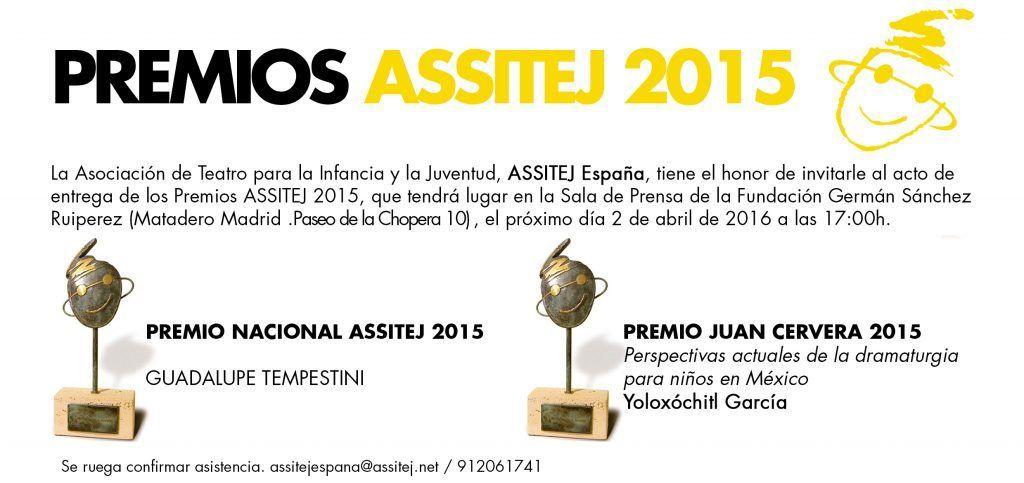 Premios ASSITEJ España 2015