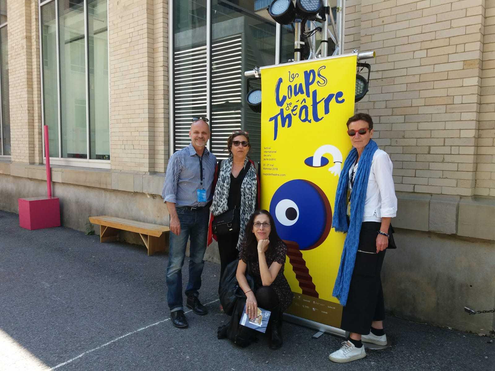 Eulàlia Ribera ha acudido invitada al festival Les Coups de Théâtre