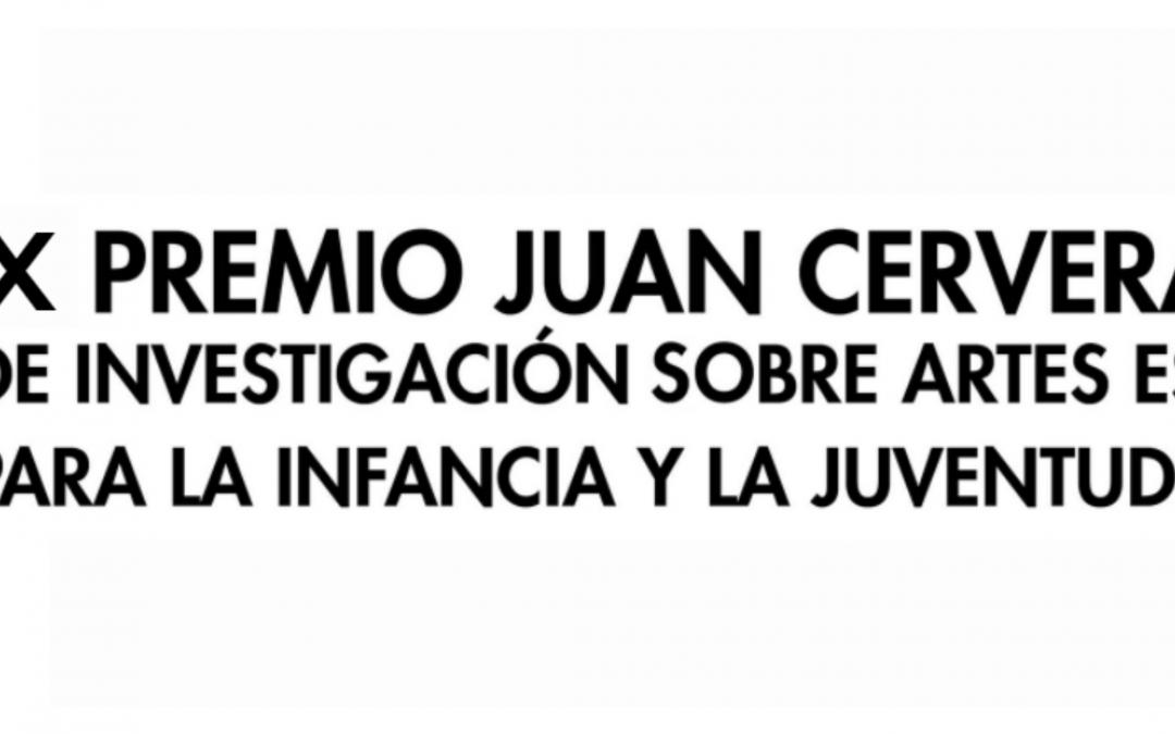 Oberta la convocatòria per al X Premi Juan Cervera de Recerca d'Arts Escèniques per a la Infància i la Joventut