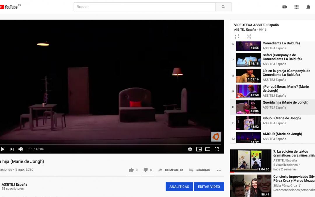 La VIDEOTECA ASSITEJ Espanya segueix creixent
