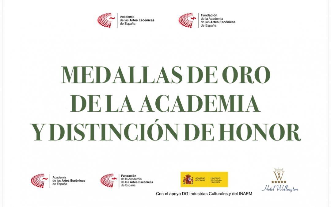 'MEDALLA D'OR 2021 DE L'ACADÈMIA D'ARTS ESCÈNIQUES D'ESPANYA!
