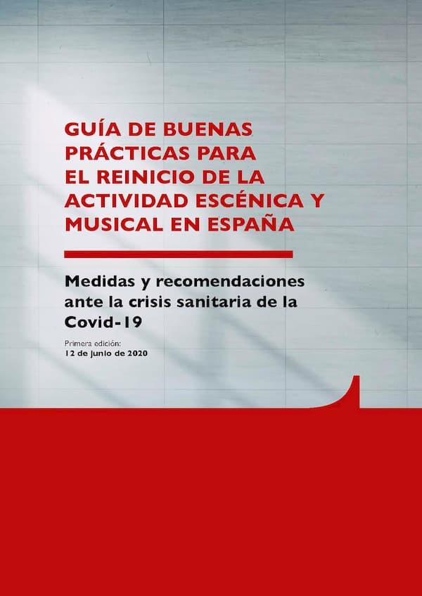 Guía Buenas Prácticas Reinicio Actividad Escénica y Musical - INAEM